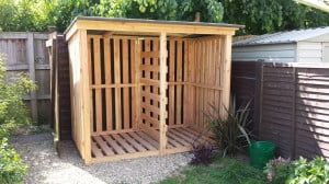 4-5 cubic metre log store