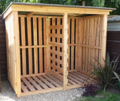Large exterior Log Stores made to order in Gloucestershire